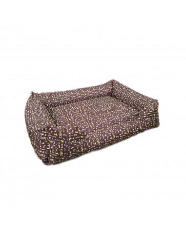 Sofa- Tissu motif -MARRON DOG VERT