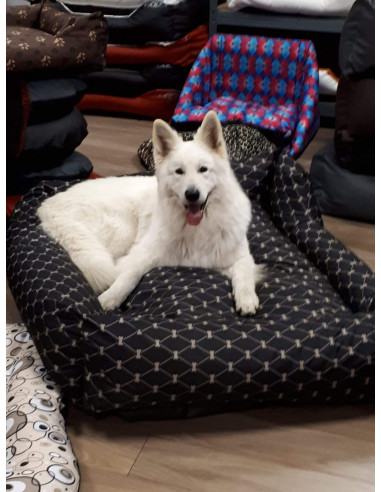 Sofa- Tissu motif NOIR OS BEIGE