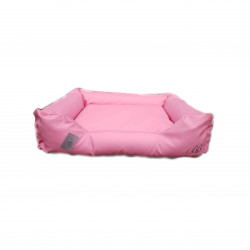sofa simili cuir rose