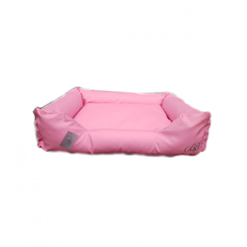 sofa simili cuir rose