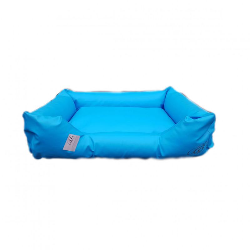 sofa simili cuir bleu