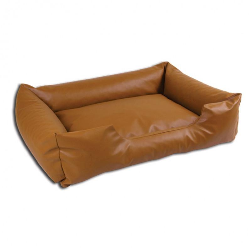 sofa simili cuir marron clair