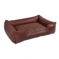 sofa simili cuir marron